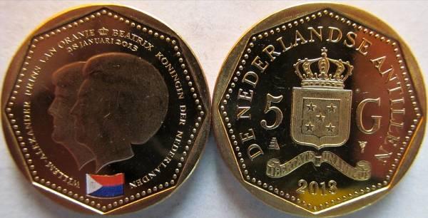 Holandské Antily 5 Gulden 2013 UNC Sint Marteen