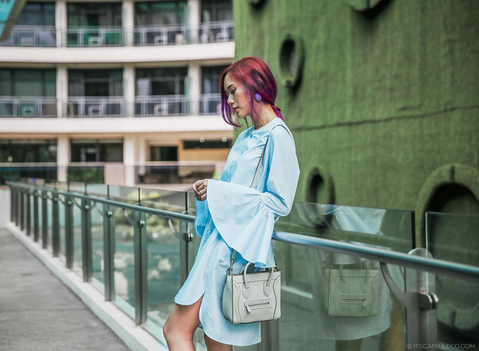 camille co in storets dress, sophia webster lola gem shoes