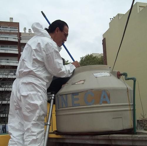 inspeccion y desinfeccion de tanque de agua