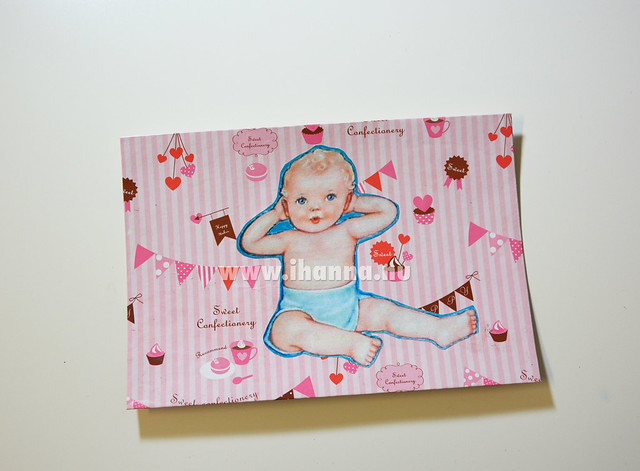 Happy Mail: Welcome to the World Card with a Hello mama! Cut and paste by iHanna