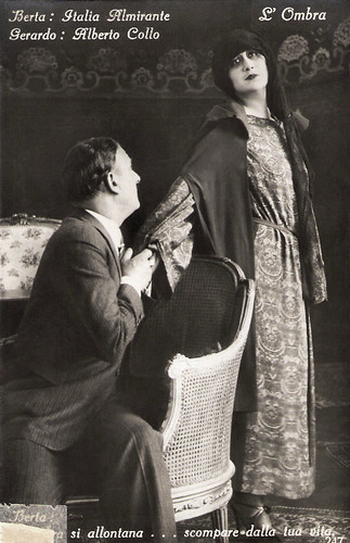 Italia Almirante and Albert Collo in L'ombra (1923)