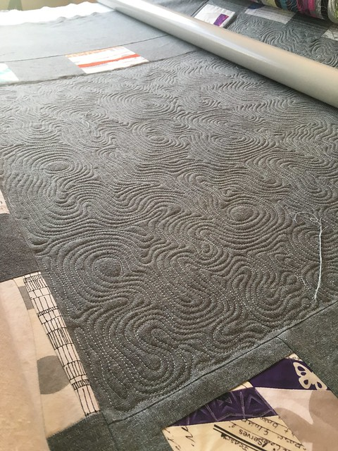 Topographical map, contour line quilting