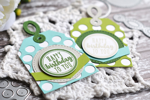 Circle Wishes Birthday Tags