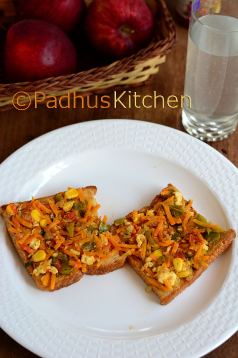 vegetable paneer masala sandwich
