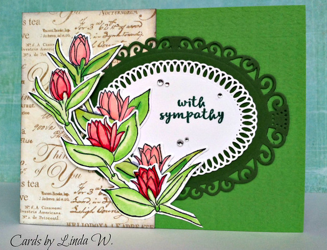 Sympathy with floral sprigs