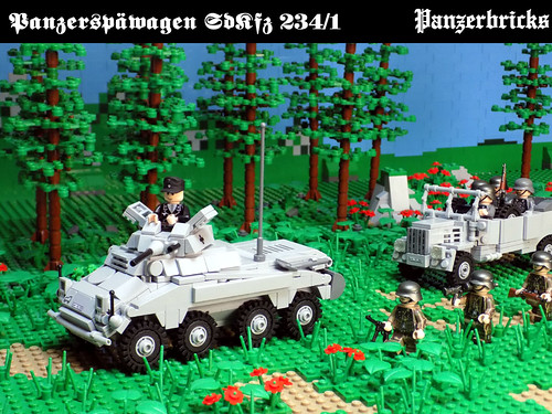 Schwerer Panzerspähwagen  (2cm) SdKfz 234/1 de Panzerbricks