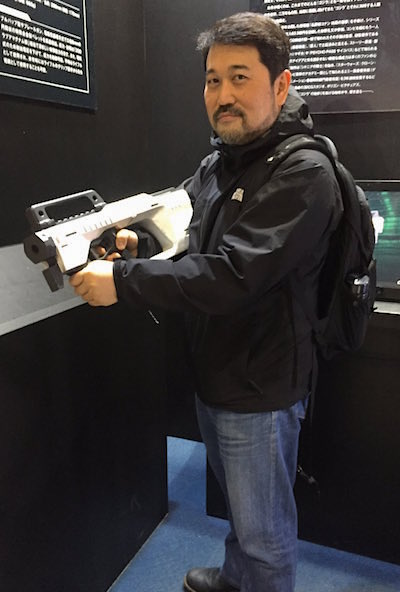 Director Hiroyuki Seshita and Gun
