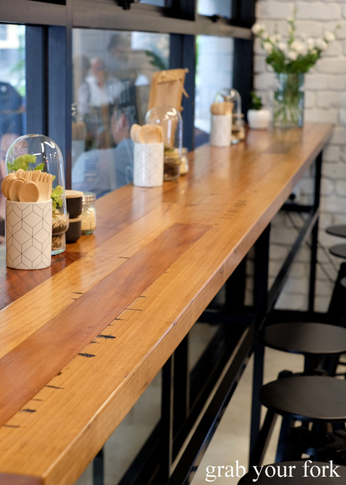 Counter seating at Miam Patisserie in Pyrmont Sydney