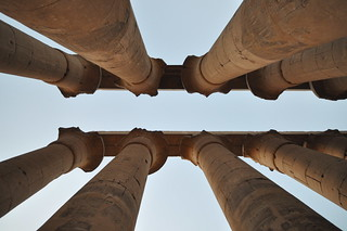 Detail of the open payrus capitals - The Colonnade of Amenhotep III -  Luxor Temple | by Jorge Lascar