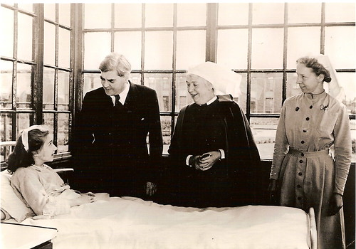 Anenurin Bevan, Minister of Health, on the first day of the National Health Service, 5 July 1948 at Park Hospital, Davyhulme, near Manchester | by liverpoolhls