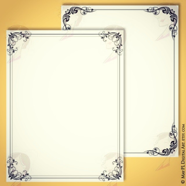 gorgeous vintage page borders frame 8x11 size comes in a set of 7 designs for