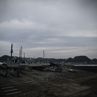 Boats Docks Sea Hills Sky, Okitsu Beach | by jacob schere [in the 03 strategically planning]