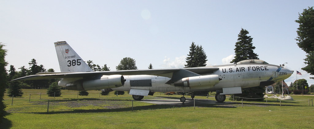 Plattsburgh Afb Museum B 47e Stratojet On Display At The