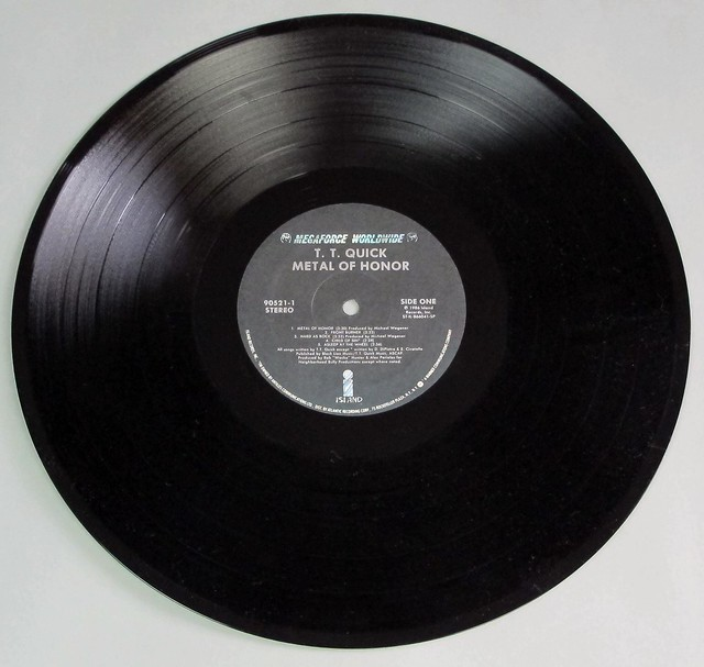 """T.T. QUICK METAL OF HONOR 12"""" LP VINYL"""