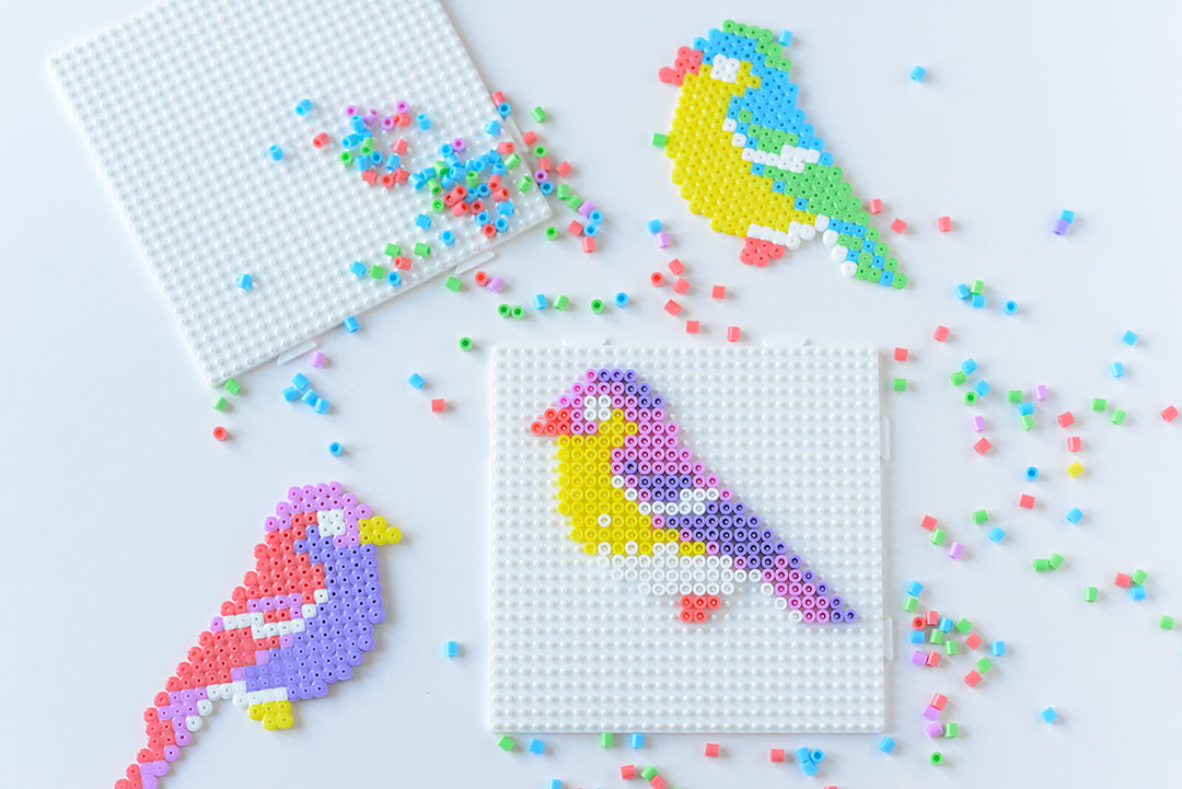 Hama bead birds