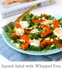 Warm Roasted Butternut Squash Salad & Rocket Salad with Whipped Feta