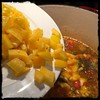 #Asopao #PuertoRican #Shrimp #Soup #homemade #CucinaDelloZio - yellow (or red) bell pepper