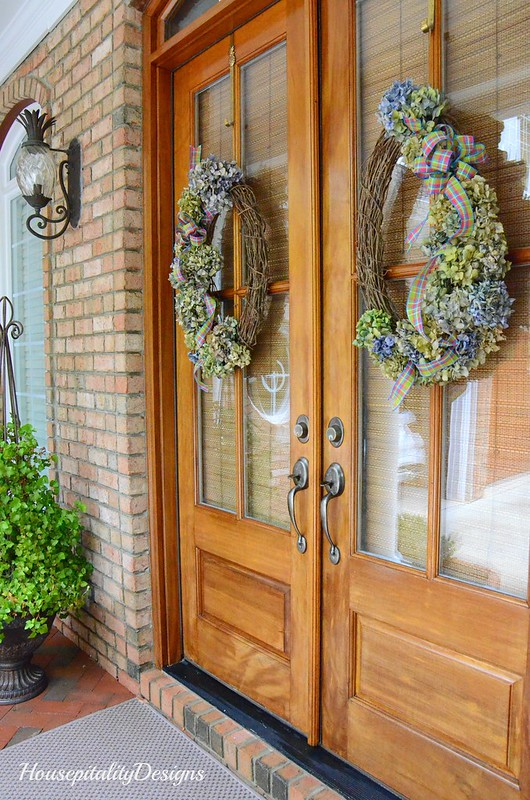 Spring Wreaths-Spring Porch 2017-Housepitality Designs