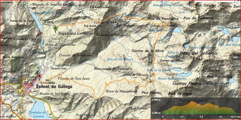 la Sarra,Tebarray, Sallent, mapa