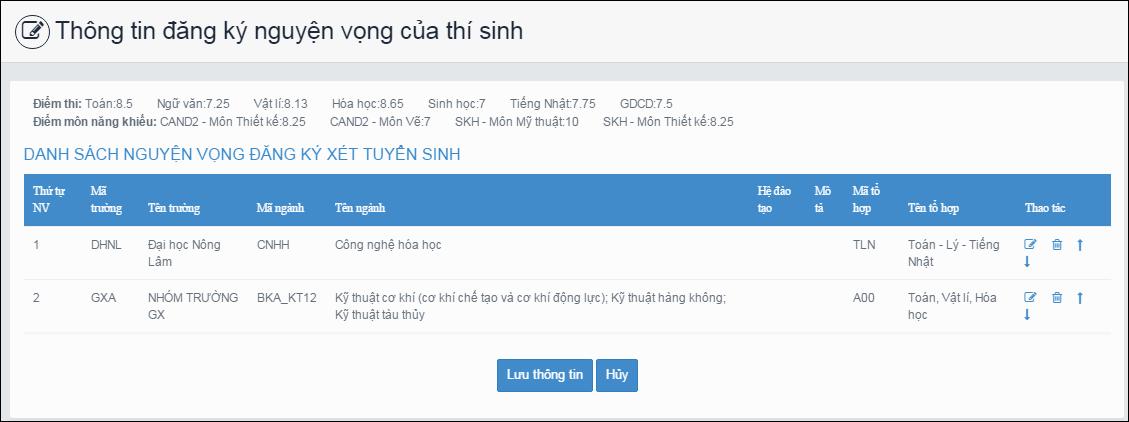 Huong dan thao tac thay doi nguyen vong tren online va mau giay.