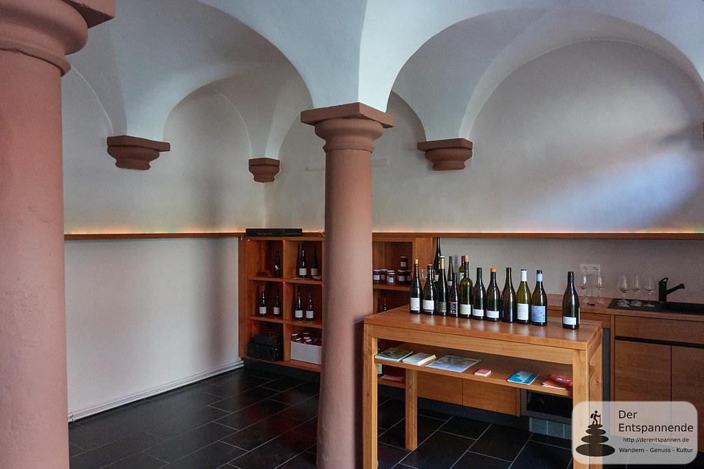 Vinothek in der Kuhkapelle des Weinguts Scherner-Kleinhanß