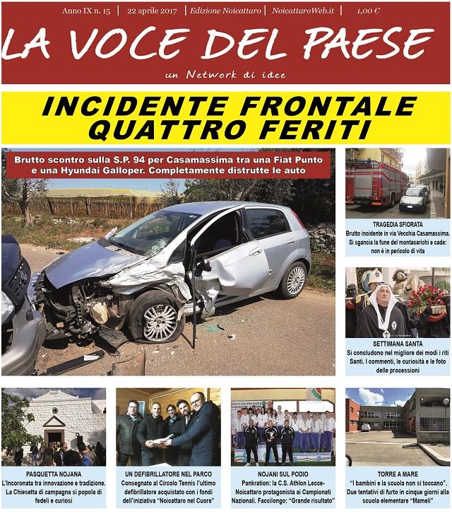Noicattaro. prima pagina n. 15-2017 intero