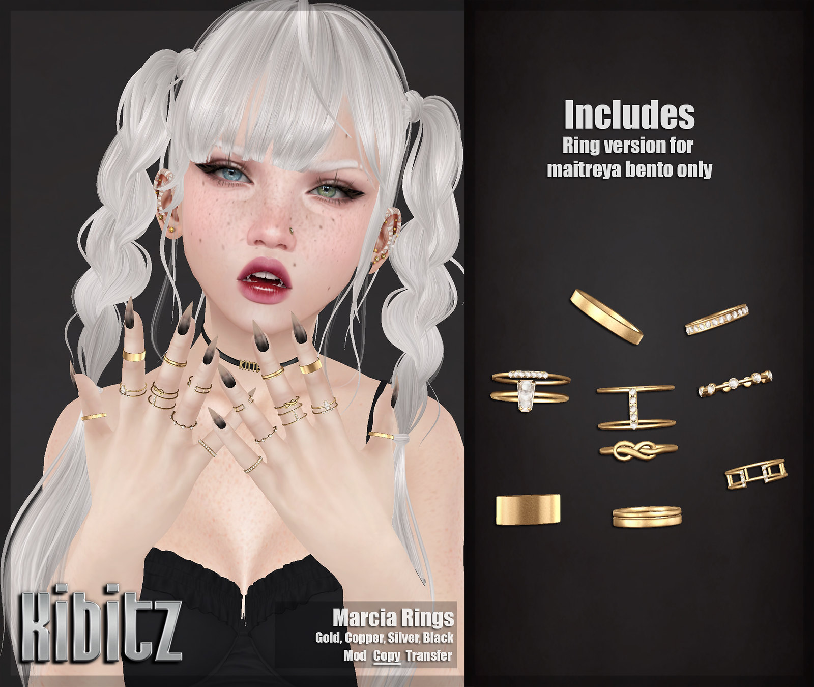 kibitz marcia rings vendor