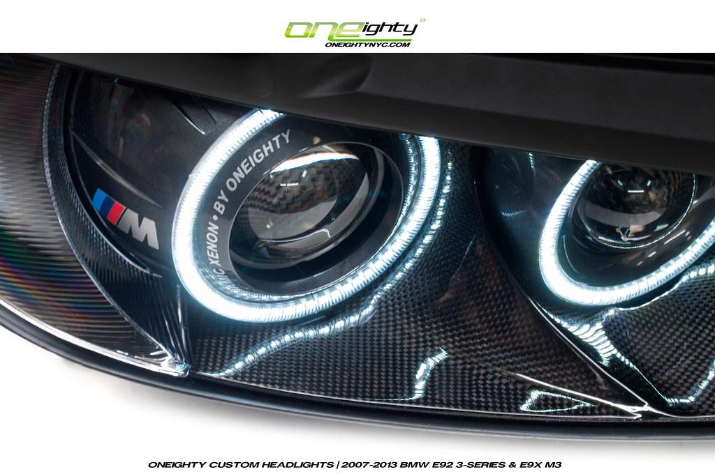 Bmw E9x 3 Series Custom Headlights By Oneighty Bmw E92 Set Flickr