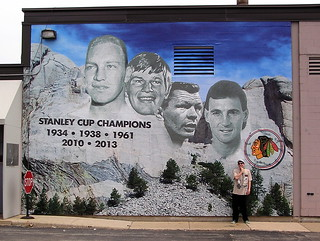 Chicago blackhawks mount rushmore mural this cool mural for Blackhawks mural chicago