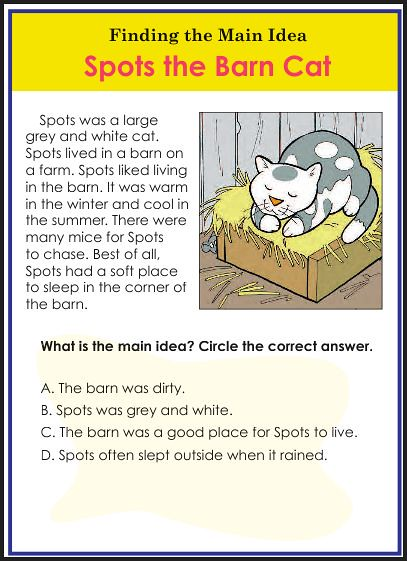 Reading comprehension worksheets main idea new downloads flickr reading comprehension worksheets main idea by chsh teach ibookread PDF