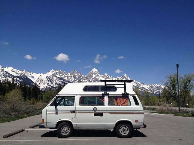 Sally at the Grand Tetons