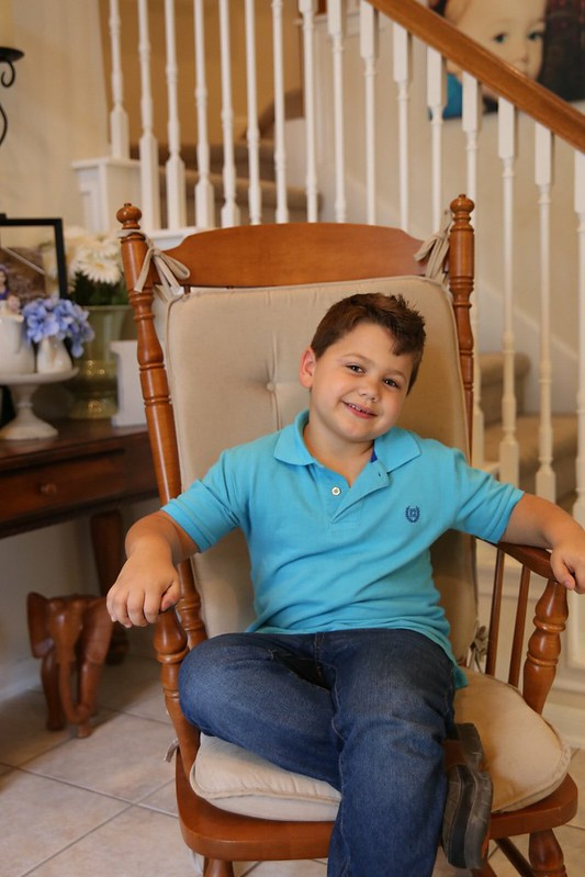 Aaron 7 year old Rocking Chair pics