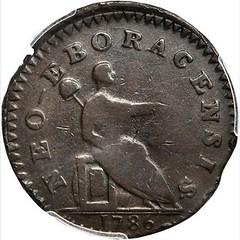 1786 Non Vi Virtute Vici Copper reverse