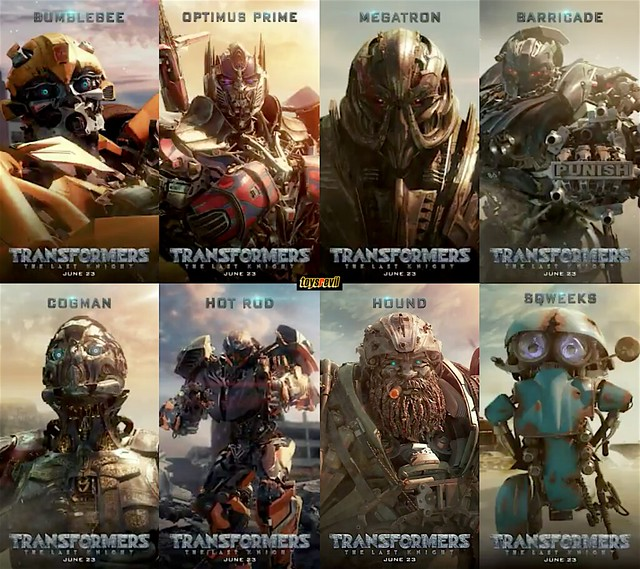 Transformers Last Knight Motion Posters