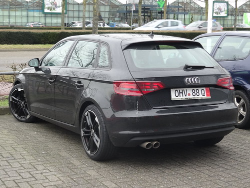 audi a3 an audi a3 with a temporary license plate from ger flickr. Black Bedroom Furniture Sets. Home Design Ideas