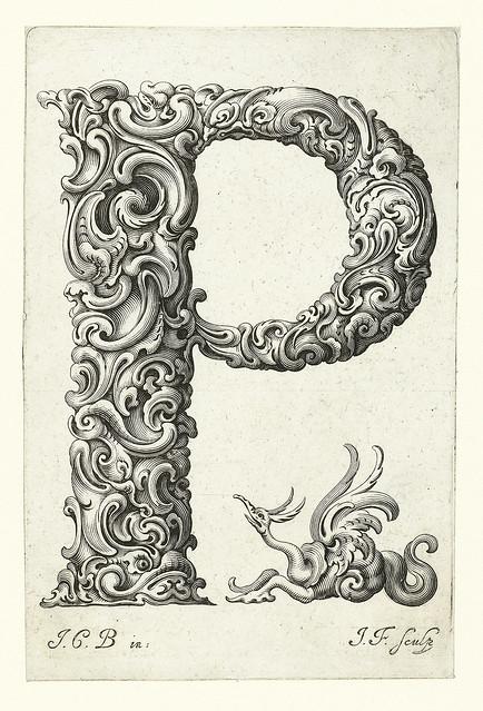 016-letra P-Libellus Novus Elementorum Latinorum -J. C. Bierpfaff-  Rijksmuseum