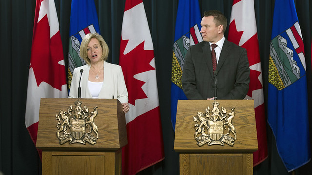 Premier Notley and Minister Bilous