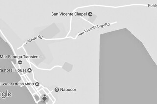 Sibale island - San Vicente map