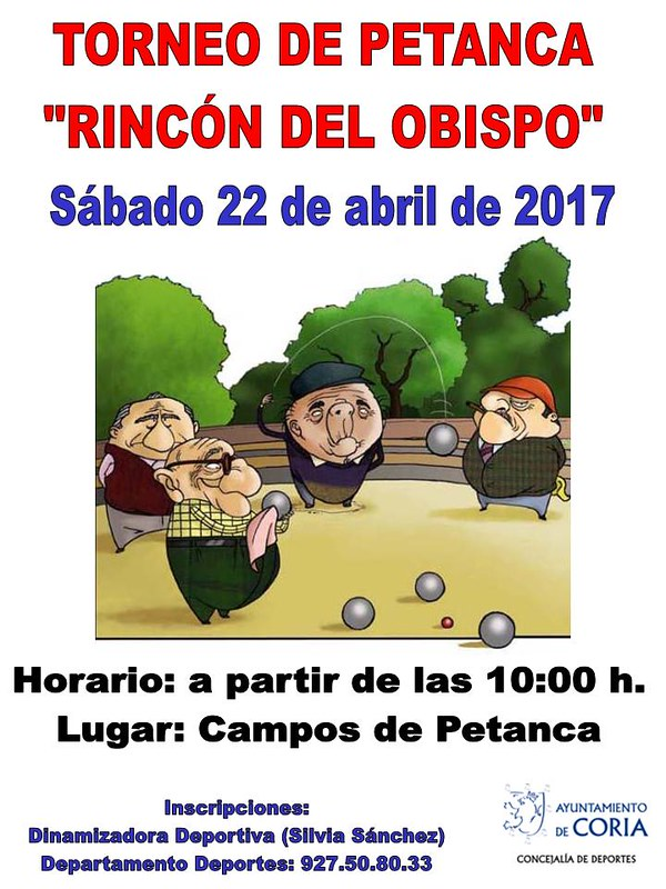 Torneo de Petanca - Rincón del Obispo