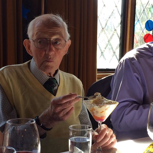 95 not out. #grandad #jack #trifle