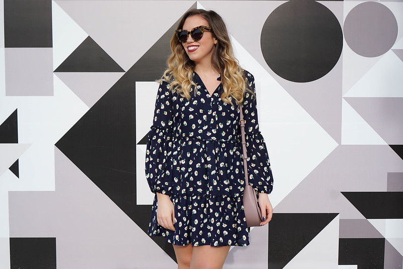 Karen Walker Starburst Sunglasses | Glamorous Floral Smock Dress