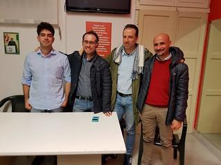 Da sinistra, Vinella, Di Masi, Polignano e Genco