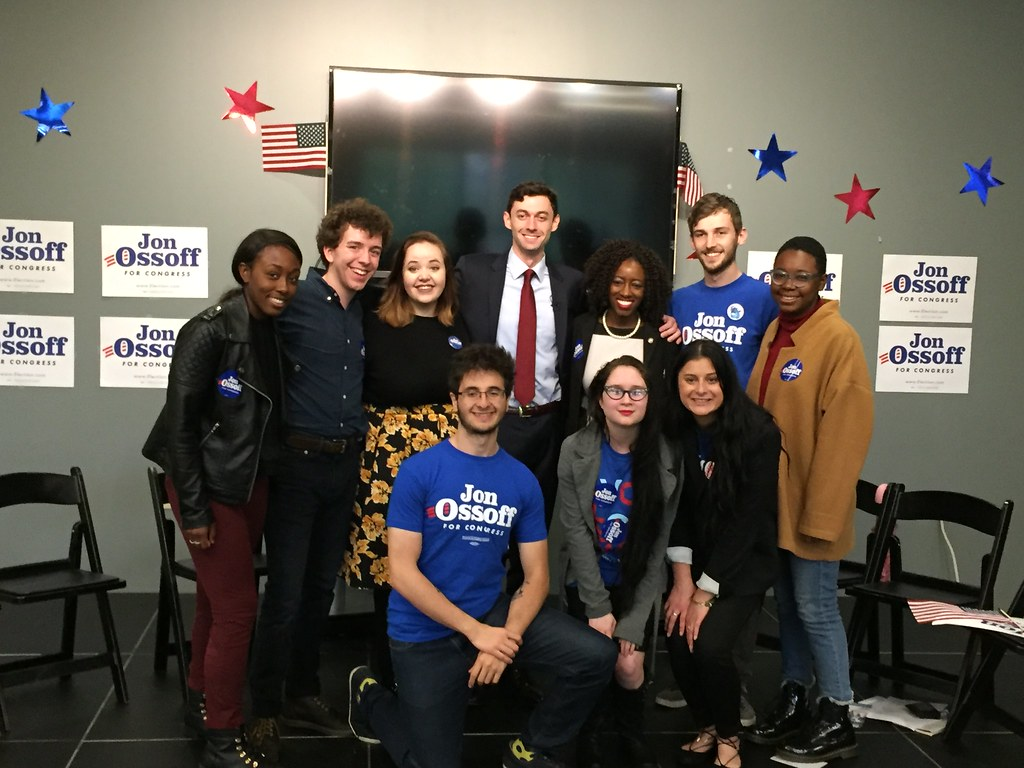 Congressional candidate Jon Ossoff speaks on campus
