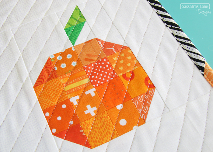 Free Patchwork Orange Mini Quilt Pattern