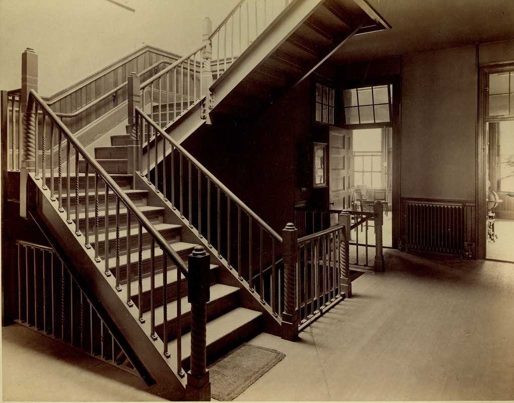 ... School Hallway Stairs, Newbury Street School | By City Of Boston  Archives