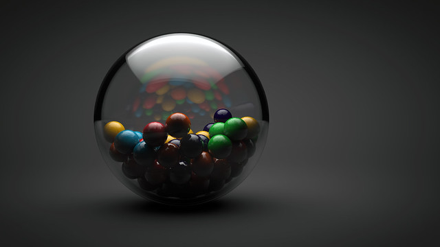 gumball collection - elements of design in photography