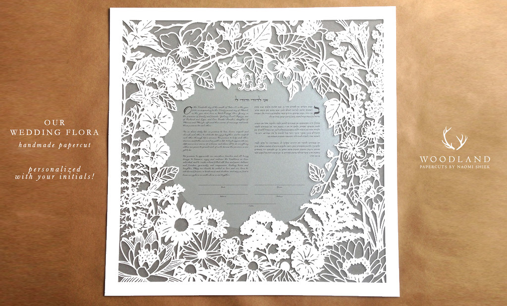 woodland papercuts-our wedding flora Heirloom handmade pap… Flickr