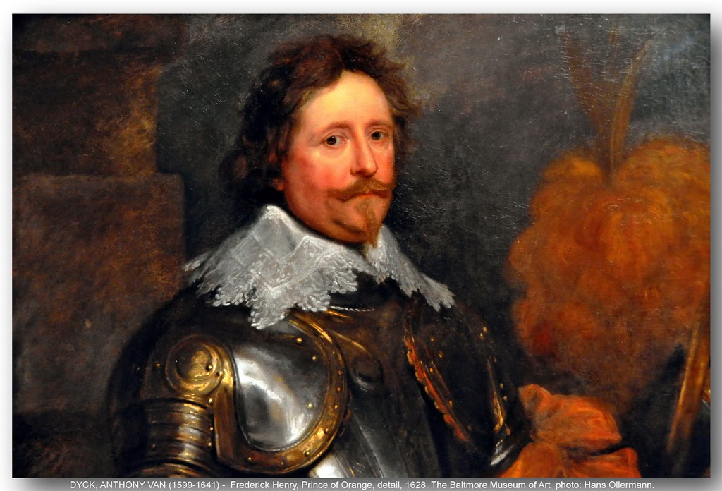 VAN DYCK, ANTHONY (1599-1641) -  Frederick Henry, Prince of Orange, detail, 1628. The Baltimore Museum of Art.