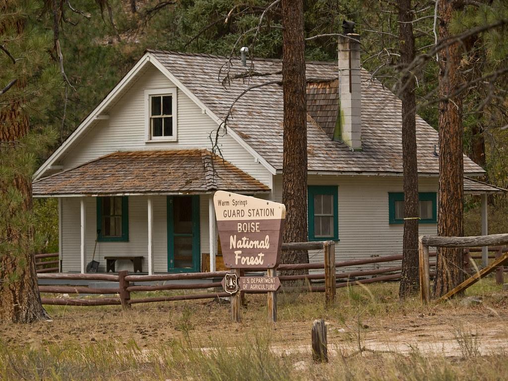 warm springs rental cabin lowman ranger district boise