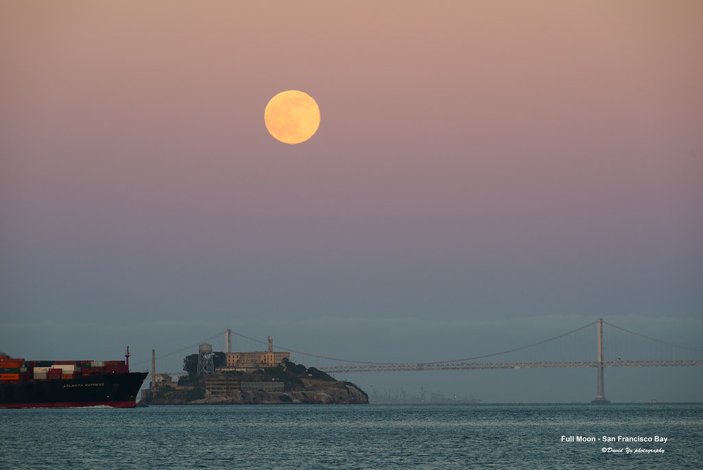 Time Of Moonrise November   Long Beach Ny